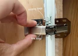 how to replace cabinet hinges our freshly painted mauve kitchen cabinets and a trick for