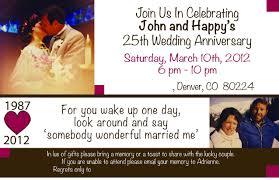 Silver Anniversary Invitation Cards 25th Wedding Anniversary Invites 25th Wedding Anniversary