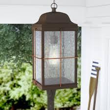 Copper Outdoor Lighting Copper Outdoor Hanging Lights You U0027ll Love Wayfair