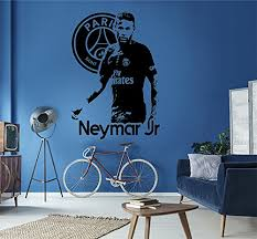 chambre psg neymar junior germain psg grand sticker autocollant
