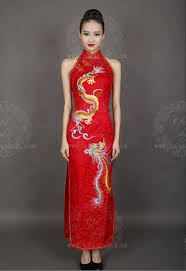 Chinese Wedding Dress Red Chinese Wedding Dress With Dragon And Phoenix Custom Made