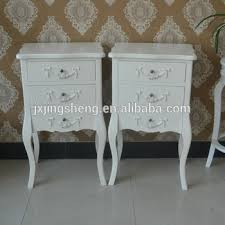 French Country Side Table - french country style ivory nightstand unique wooden chest of 3