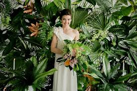 Jungle Backdrop Lush Tropical Wedding Inspiration Green Wedding Shoes