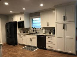 kitchen design white cabinets black appliances sherwin williams alabaster kitchen cabinets with black