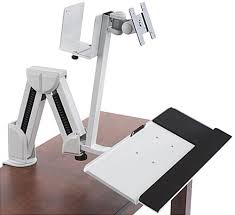 monitor and keyboard arm desk mount monitor arm with keyboard tray desk or wall mount