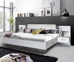 Schlafzimmer Komplett Bett 180x200 Doppelbett Ehebett Bettgestell Mit Nachtkonsolen 180 X 200 Cm
