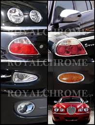 fast ems pair royal chrome door mirror covers for jaguar s type