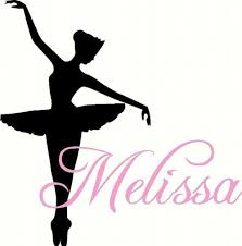 dance wall decal personalized ballerina with name for baby