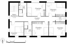 plan maison en l 4 chambres plan maison 4 chambres impressionnant maison en u 6 chambres