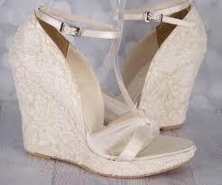 lace ivory wedding shoes custom wedding shoes wedding wedges wedge wedding shoes lace