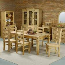 Mexican Furniture Mexican Pine Furniture Dining Set Fine Mexican Pine Furniture