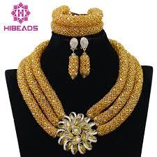 gold set 2017 hot necklace handmade braid