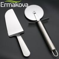 personalized pizza cutter ermakova 2 pcs set pizza cutter and pie server pizza server knife pizza wheel slicer stainless jpg 200x200 jpg