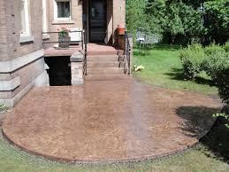 Ideas For Concrete Patio Pleasant Pendant In Decorative Concrete Patio Interior Designing