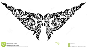 abstract butterfly and heart tribal tattoo vector stock photos