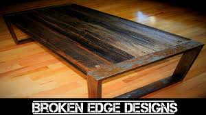 reclaimed wood coffee table youtube