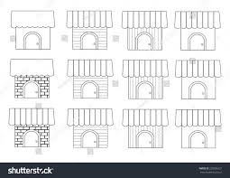 linear different home styles set vector stock vector 250006321