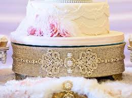 rhinestone cake 14 gold rhinestone cake stand wedding decoration