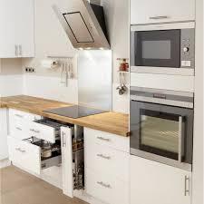cuisine blanche plan de travail bois cuisine blanche avec plan de travail bois top les meilleures ides