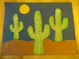 rice cactus art project the wild west pinterest cacti