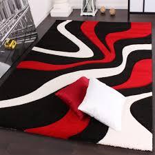 Dachgeschoss Schlafzimmer Design Gemütliche Innenarchitektur Schwarz Weiß Rot Schlafzimmer