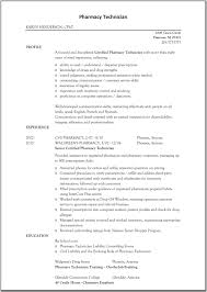 Technician Resume Examples by Pharmacy Resume Examples
