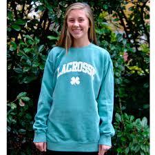 comfort colors brand crew neck with the lacrosse clover sweatshirt