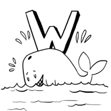 coloring page of a whale kids drawing and coloring pages marisa