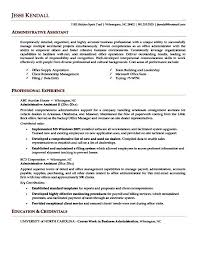 sample executive assistant resume free samples examples