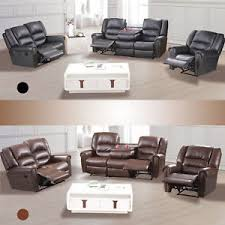 Living Room Furniture Ebay by 3 2 1 Seater Sofa Set Loveseat Couch Recliner Leather Living Room