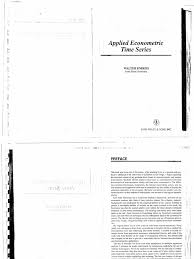 walter enders applied econometric time series