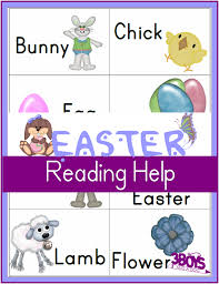 printable easter worksheets reading flash cards u2013 3 boys and a dog