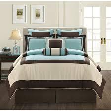 bedding set amazing grey and aqua bedding 10 piece luna teal