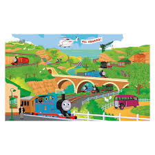 wall murals walmart com roommates thomas the train chair rail prepasted mural