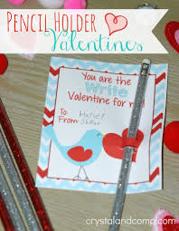 kid valentine crafts pencil holder printables after