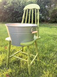 broken chair make a cooler planter bucket chair hometalk