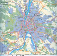 Map Of Budapest карта будапешта и окресностей для авто туриста аэропорт