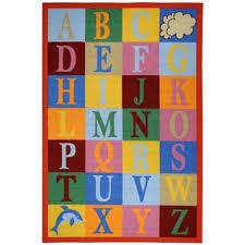 Alphabet Area Rug Ottomanson Multicolor Puzzle Educational Alphabet Children Kid U0027s
