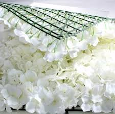 wedding backdrop flowers flower wall panel 60cm x 40cm ivory hydrangea wedding backdrop