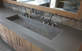 Vanity Countertops With Sink Custom Concrete Bathroom Sinks Trueform Concrete