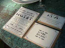 art deco wedding invitations matik for