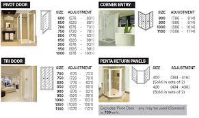 Standard Shower Door Sizes Steel Wood Aluminium And Upvc Doors Windows And Frames South