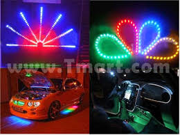 9 led pvc motorcycle car boat lights blue light