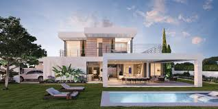 new modern villa with private pool and panoramic views of the