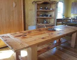 reclaimed kitchen island table diy kitchen tables noticeable diy kitchen pub table