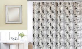 Fleur De Lis Curtains Fleur De Lis Shower Curtain Set Groupon Goods
