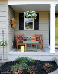 decorate front porch spring front porch love the little table yard work pinterest small