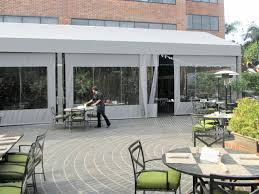 Patio Clear Plastic Enclosures by Restaurant Awnings Superior Awning