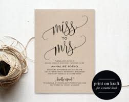 Wedding Shower Invites Etsy Bridal Shower Invitation Stephenanuno Com