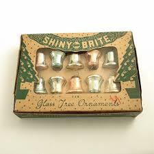vintage glass christmas ornaments shiny brite bells glass